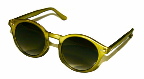 "Vintage Style Deadstock ""Elias"" Sunglasses in Translucent Green"