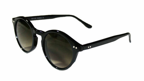 "Vintage Style Deadstock ""Elias"" Sunglasses in Black"