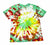 Rasta Style Green/Yellow/Red Tie Dye Shirt Mens Size Medium (Slim Fit)