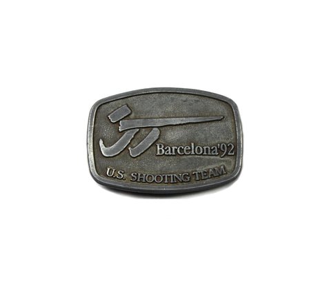 Vintage U.S. Shooting Team Barcelona '92 Belt Buckle