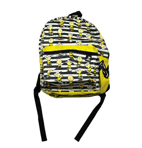 Peanuts Charlie Brown Striped Yellow Backpack