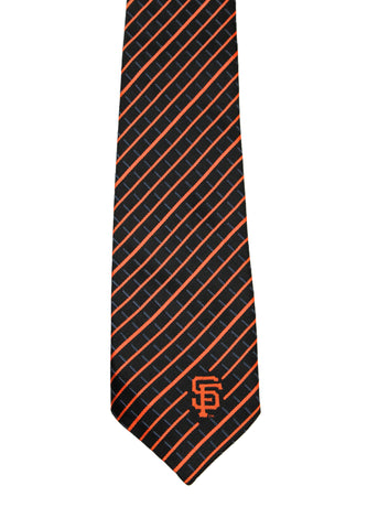 San Francisco Giants State Farm Promotional Black/Orange Handmade Striped Necktie