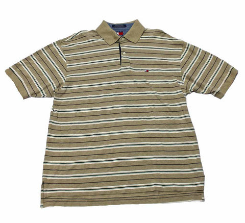 Vintage Tommy Hilfiger Striped Polo Shirt Mens Size Large