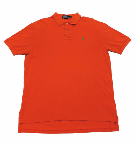 Vintage Polo by Ralph Lauren Orange/Green Polo Shirt Mens Size Medium