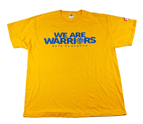 Golden State Warriors We Are Warriors 2013 Promo Playoffs Shirt Mens Size XL