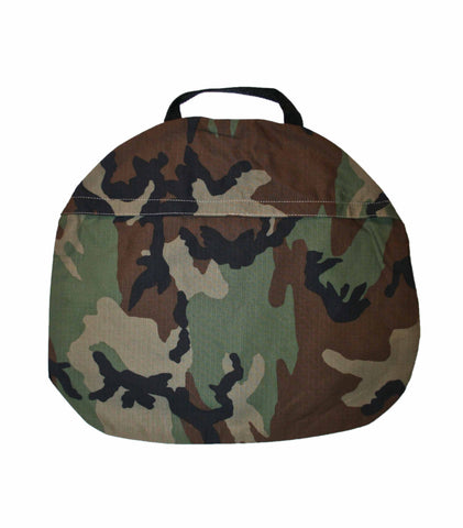 Vintage Army Camouflage Canvas Bag