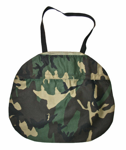 Vintage Army Camouflage Canvas Bag with Pocket