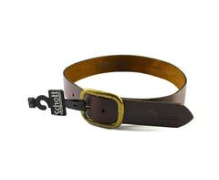 Vintage 90s Deadstock Schott NYC Perfecto Brown Leather Belt Mens Size Small