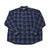 Vintage 90s Eddie Bauer Blue/Brown Plaid Button Down Shirt Mens Size XL