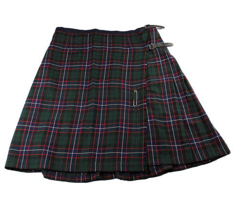 Vintage Navy Blue / Green Tartan Wool Mens Kilt