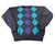 Vintage 90s Gray/Purple/Aqua Argyle Wool Ugly Sweater Party Mens Size XL
