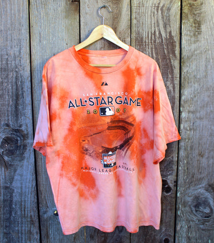 2007 All Star Game San Francisco MLB Bleached Shirt Mens Size XL
