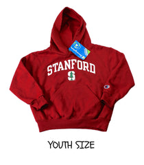 Deadstock Champion Stanford Hooded Sweatshirt YOUTH Size X-Small