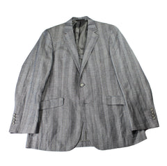 Kenneth Cole New York Gray Check Wool/Linen 2-Button Sport Coat Jacket Mens Size 38R