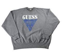 Vintage 90s GUESS USA Americas Number 1 Jeans Crewneck Sweatshirt Mens Size Large