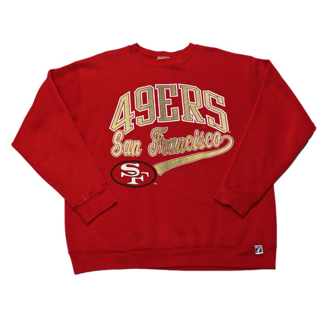Vintage Logo 7 1980s San Francisco 49ers Crewneck Sweatshirt Mens Size Medium