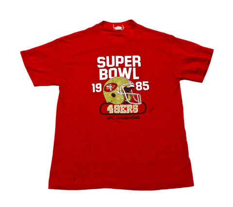 VERY RARE Vintage 1985 San Francisco 49ers Super Bowl Shirt Made in USA Mens Size Small