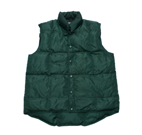 Vintage 90s Lands End Green Down Vest Mens Size Small