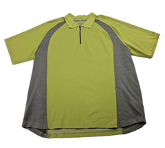Eddie Bauer 1/2 Zip Polo Shirt Green/Gray Mens Size XLT