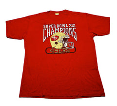 Vintage 1985 Logo 7 San Francisco 49ers Super Bowl XIX Champions Shirt Mens Size Large