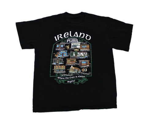 Vintage Ireland Traditional Pubs Shirt Mens Size Small