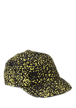 Black and Yellow 5 Panel Cap