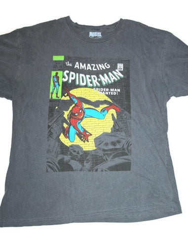 Retro Style Amazing Spiderman Comic Book Shirt Mens Size XL