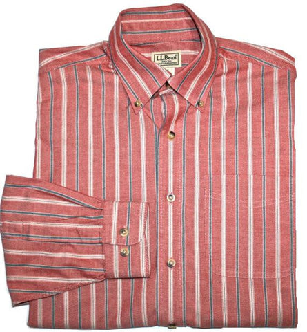 Vintage L.L. Bean Striped Button Down Shirt Mens Size Small