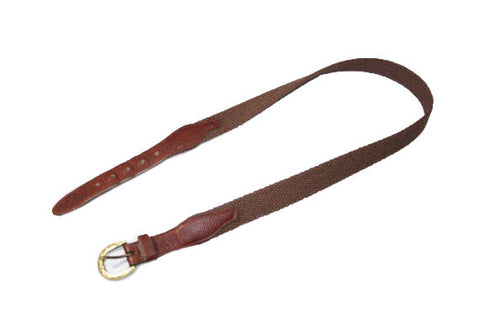 Vintage Canvas and Leather Brown Cole Haan Belt Mens Size Small