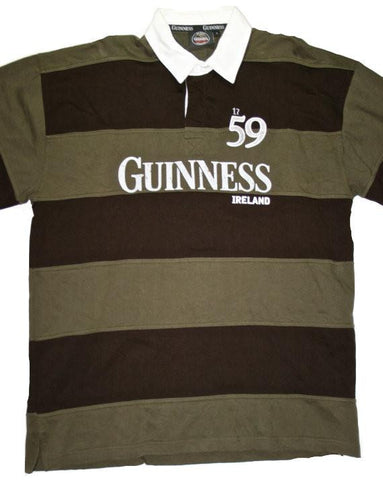 Guinness St. Patricks Day Short Sleeve Polo Shirt Mens Size XL