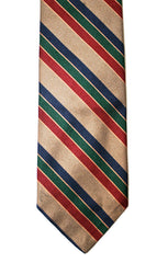 Vintage Silk Striped Preppy Necktie
