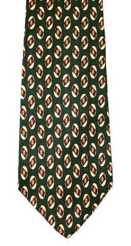 Vintage Polo by Ralph Lauren Green Silk Necktie Made by Hand