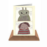 Alien & Boy Card with Envelope