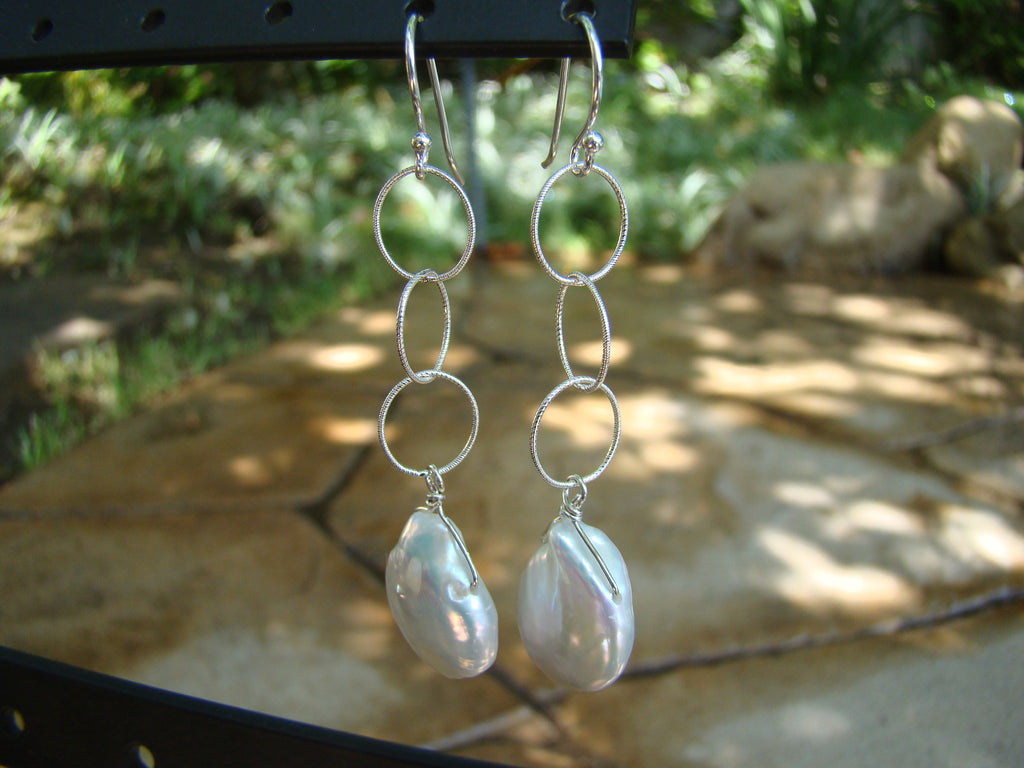 Earrings-dangly silver classic