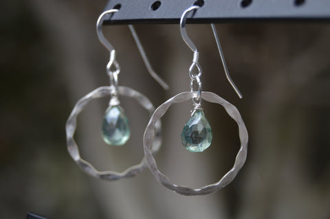 Faceted Sterling Silver Earrings