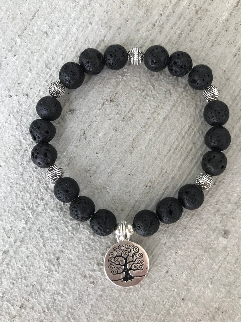 Healing Lava stone bracelet - Breast Cancer Awareness Month