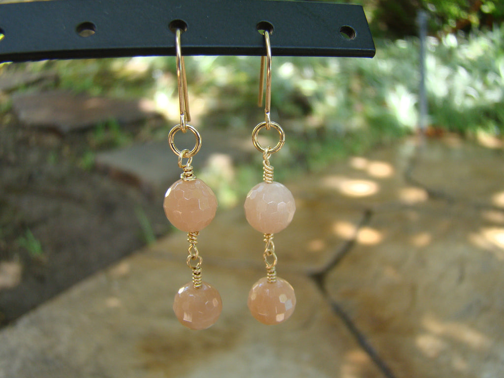 Earrings-peach drops