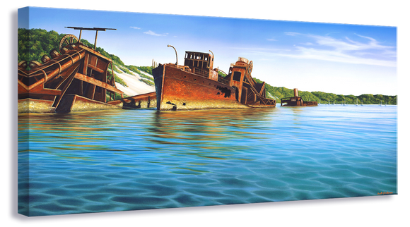 Tangalooma Wrecks  675 x 330mm