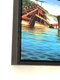 Tangalooma Wrecks - Framed Canvas Mini