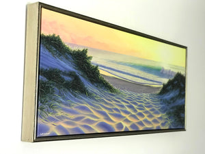 Sunrise with Champagne Shadow-box Frame
