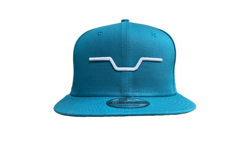 Big Al's Bar logo Teal breeze New Era snap back Hat