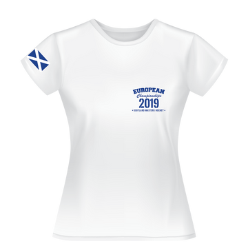 2019 - European Championships - Dry wicking Tour / Training Shirt (Ladies) - White
