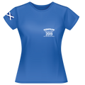2019 - European Championships - Dry wicking Tour / Training Shirt (Ladies) - Blue (no print on back)