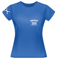 2019 - European Championships - Dry wicking Tour / Training Shirt (Ladies) - Blue