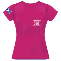 2019 - European Championships - Dry wicking Tour / Training Shirt (Ladies) - Hot Pink