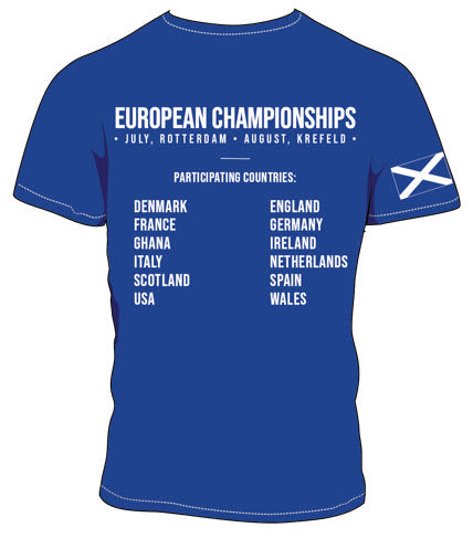 2019 - European Championships - Dry wicking Tour / Training Shirt (Mens) - Blue