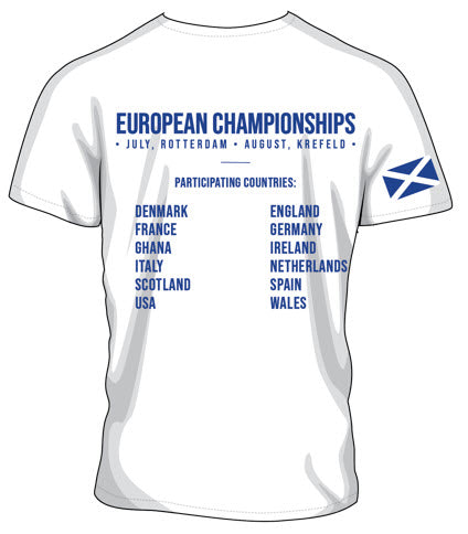 2019 - European Championships - Dry wicking Tour / Training Shirt (Mens) - White