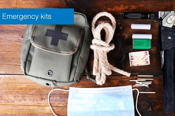 staff uses emergency kits