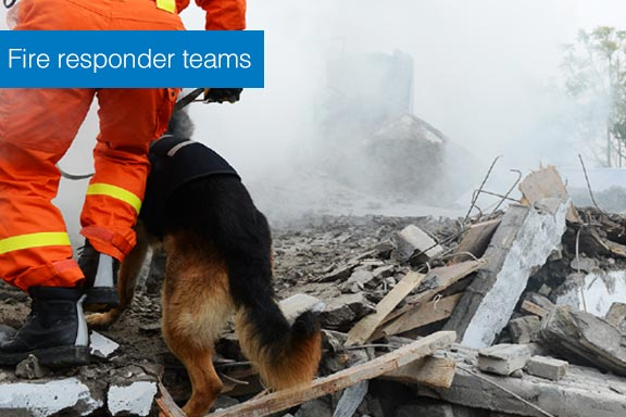 staff uses fire responder teams