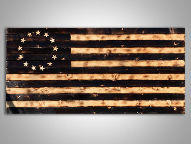 Rustic Betsy Ross Flag Wooden Flag Torch Stories